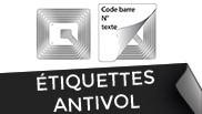 etiquettes antivol